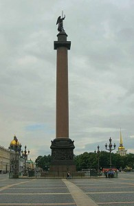 Александровская колонна, Петербург, история, обман, Русь, ja-rus, литография, строительство