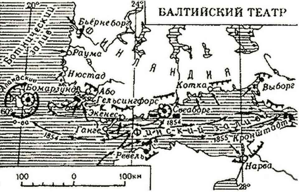 Петербургская война, 1854