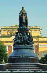 Екатерина Вторая, памятник, Русь, обман, история, Великая Тартария, Россия, ja-rus
