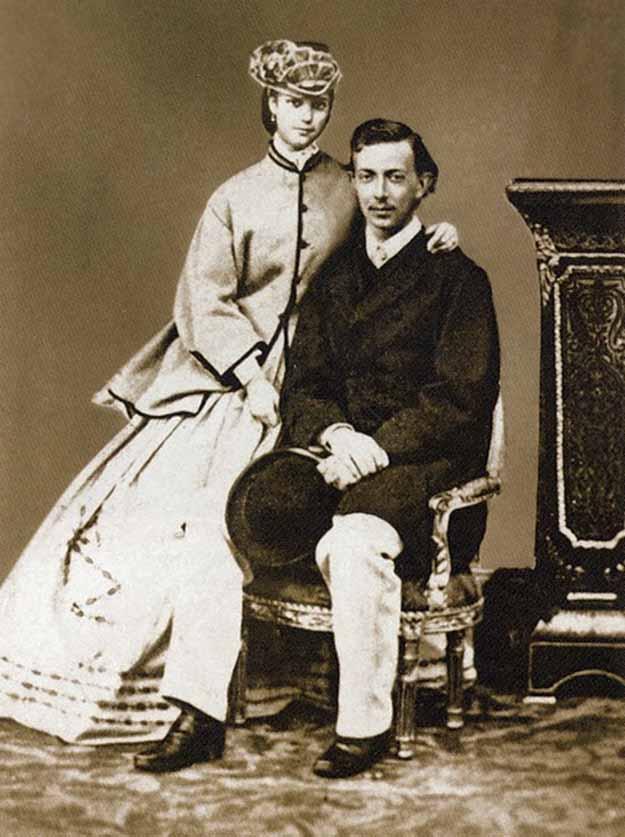 Никса Гольштейн с невестой Дагмарой, Копенгаген, 1864 год, Русь, оккупация, летопись, история