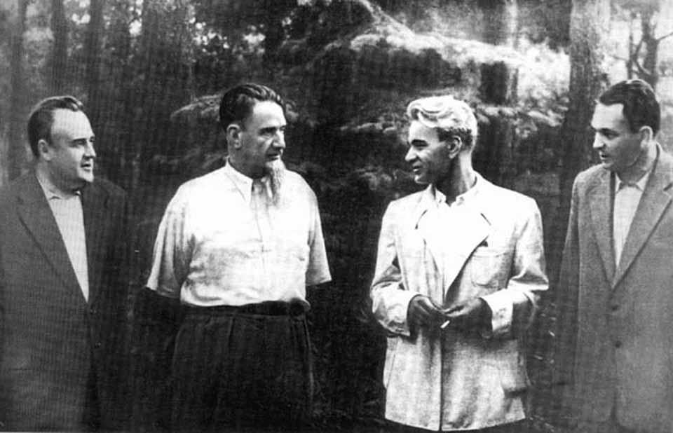 Слева направо: Королев, Курчатов, Келдыш и Мишин